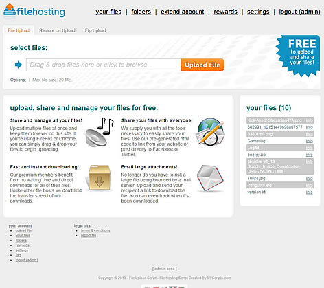 Click to view YetiShare - File Hosting Script Free 2.1 screenshot