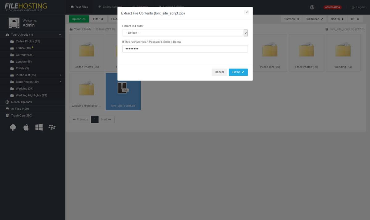 File Leech Plugin - YetiShare
