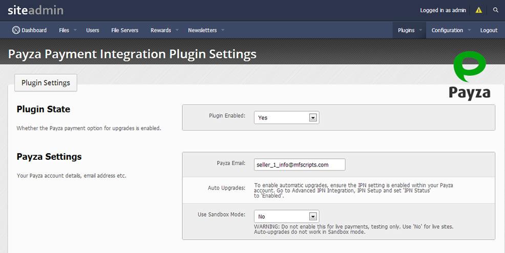 Payza Payment Gateway Plugin - YetiShare