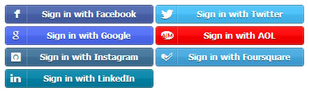 Social Login Plugin, Facebook, Twitter and Google