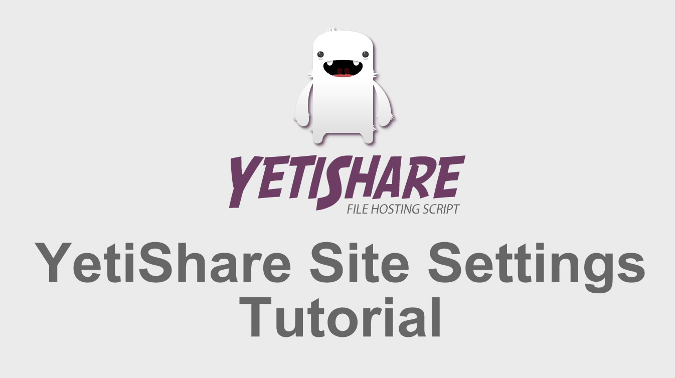 Site Settings Tutorial