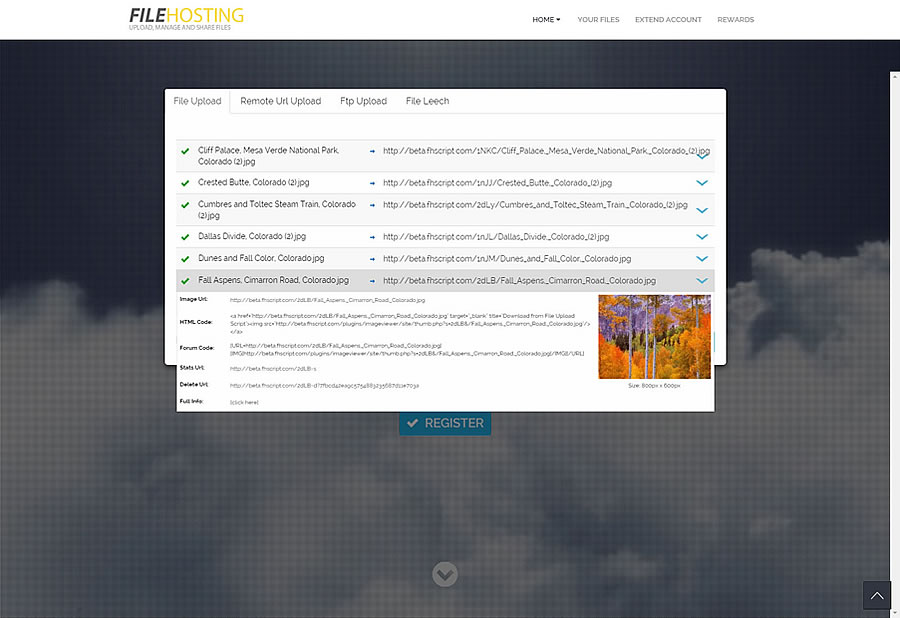 Multifile Uploader Yetishare